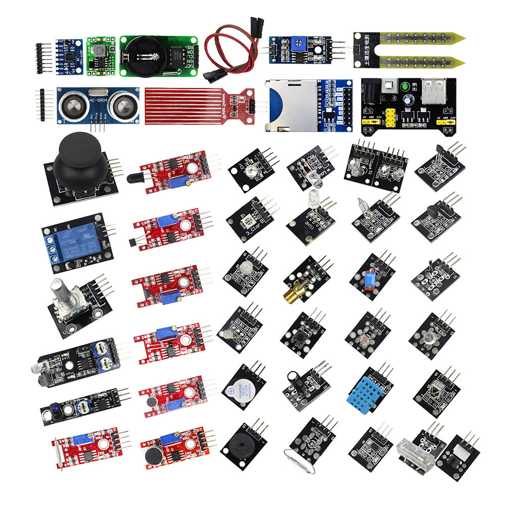 Smart Electronics 45 in 1 Sensors Modules Better Than 37in1 Sensor for arduino Diy Starter KitSmart Electronics 45 in 1 Sensors Modules Better Than 37in1 Sensor for arduino Diy Starter Kit