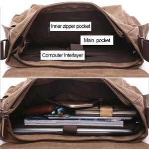 Image 4 - Retro Mannen Messenger Bags Canvas Handtassen Leisure Werk Reistas Man Business Crossbody Tassen Aktetas Voor Mannelijke Bolsas XA108ZC