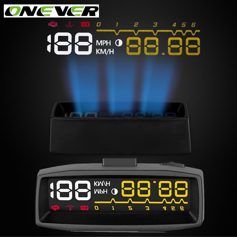 imágenes para Onever 9 V-36 V 4F OBDII Car Hud Head Up Display 3.5 ''Pantalla Del Proyector Puerto OBD2 Auto interfaz Parabrisas Pantalla LED KM/h, MPH