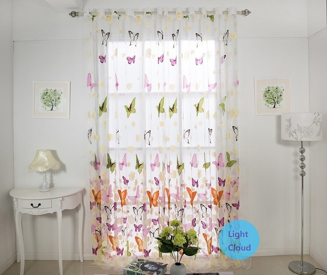 Custom Made Curtains Hot Butterfly Pattern Kids Curtains For Girls Living Room  Curtains Sheer Curtain