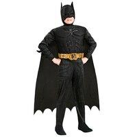 Nowy Przyjazd Dzieci Deluxe Muscle Batman Mroczny Rycerz Superhero Halloween Party Fancy Dress Chłopcy Dziecko Karnawał Cosplay Costume