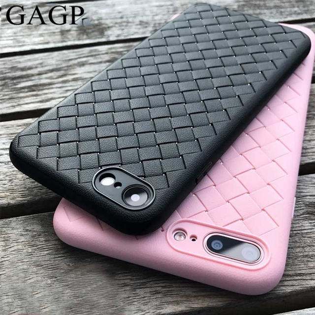 for iphone X 10 iphone 6s 6 Plus Case XS Max XR Weave Leather Skin XS R Silicon Coque Cover for iphone 8 plus iphone 7 plus Case