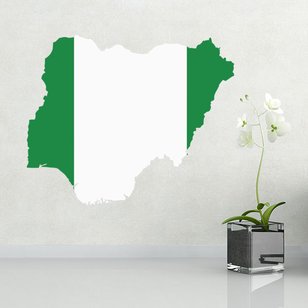 Vlajka Nigérie nástěnné vinylové nálepky na míru domácí dekorace nástěnné nálepky svatební dekorace PVC tapety módní design