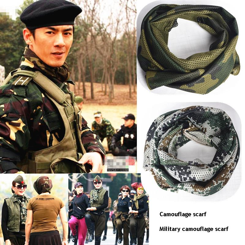 Long tactical scarf breathable sunscreen four seasons camouflage jungle camouflage riding mens army fans Sailor Dance scarf