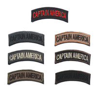 7 Pieces Set Captain America Military Tactical Patch Morale 3D Badge Fabric Armband Badges Stickers Morale