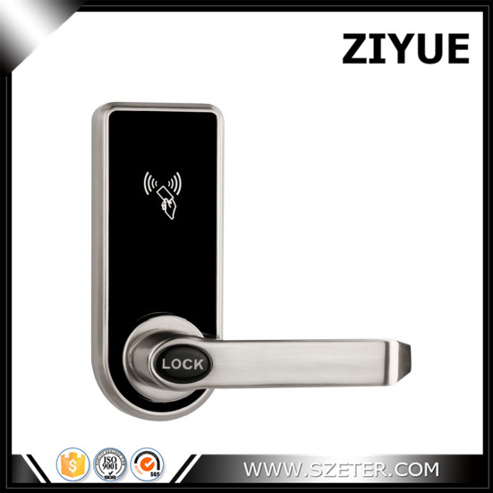New Arrival Single Latch Mortise RFID Card Key Hotel Door Lock Easy Install and Replace Old Locks electronic rfid card door lock with key electric lock for home hotel apartment office latch with deadbolt lk520sg