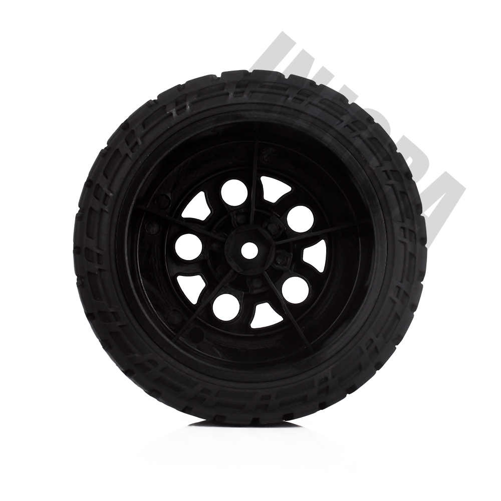 INJORA 4 STKS Zwart Velg & Banden Set voor 1/10 RC Korte Cursus Truck Slash HPI Traxxas RC Model auto