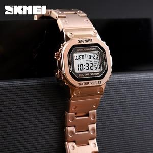 Image 3 - SKMEI Marke frauen Uhr Luxus Sport Digitale Frauen Uhr Armband Wasserdichte Stoppuhr Countdown Damen Kleid Handgelenk Uhren