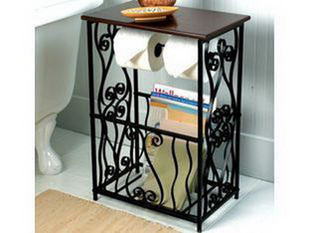 European Style Garden Home Small Coffee Table Magazine Rack Iron Towel Racks Bathroom Floor