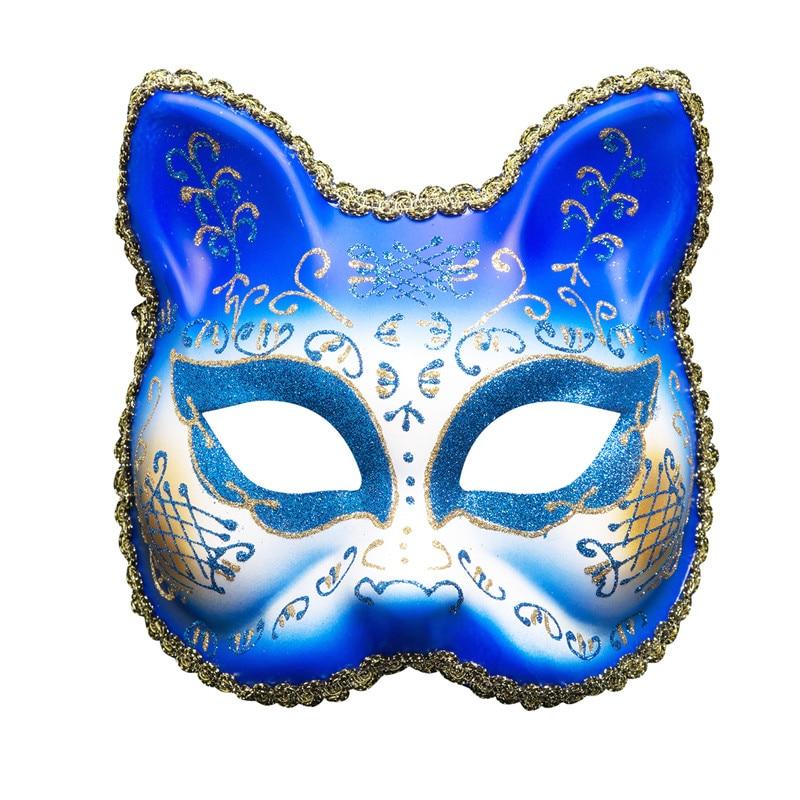 Venetian Cat Mask Masquerade Mardi Gras Woman Man Mask of Venice Wall Decorative Art Collection christmas