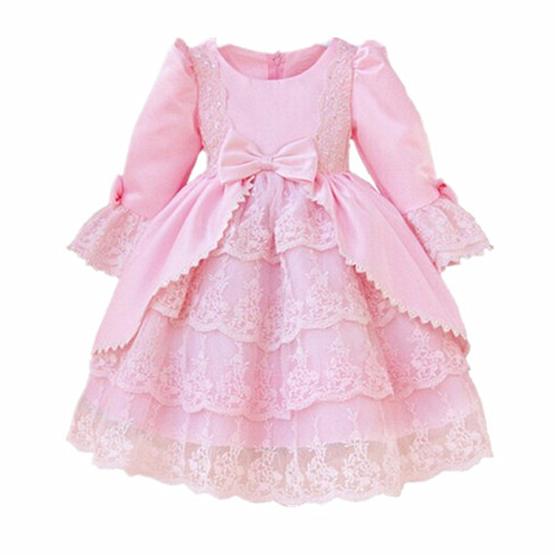 BBWOWLIN Girl Winter Clothes Baby Long Sleeve Dress for