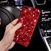 For Xiaomi 4S 5 5X 6 Cute Luxury Classic Red Diamond Rhinestone Soft TPU Case Cover