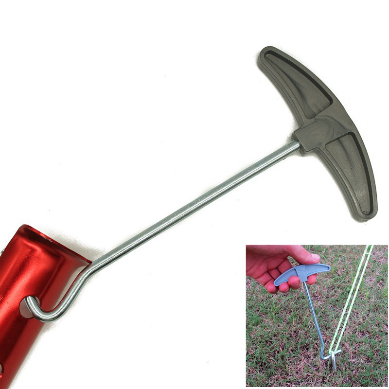ShineTrip 1PCS Camping Tent Peg Stakes Extractor Puller Nail Retractor Hook Wrecking Staple Remover Nail Puller Tent Accessories