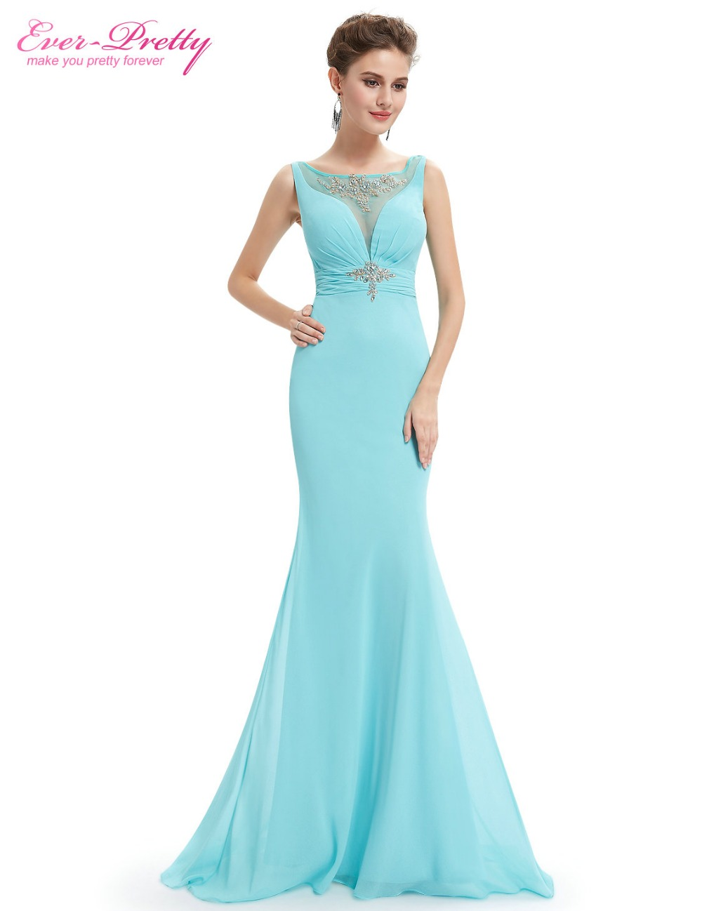 Ever Pretty Evening Dresses EP08732 Women\'s Elegant Light Blue ...