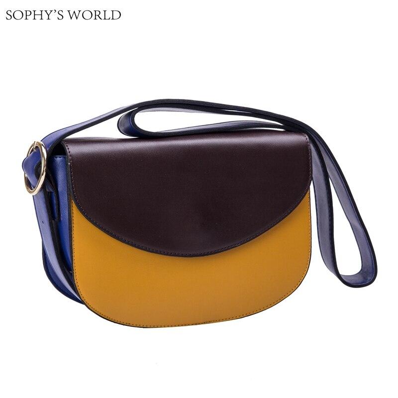 ФОТО Patchwork Leather Strap Women Shoulder Messenger Bags Ladies Casual Cross body Leather handbags Small Bolsas femininas