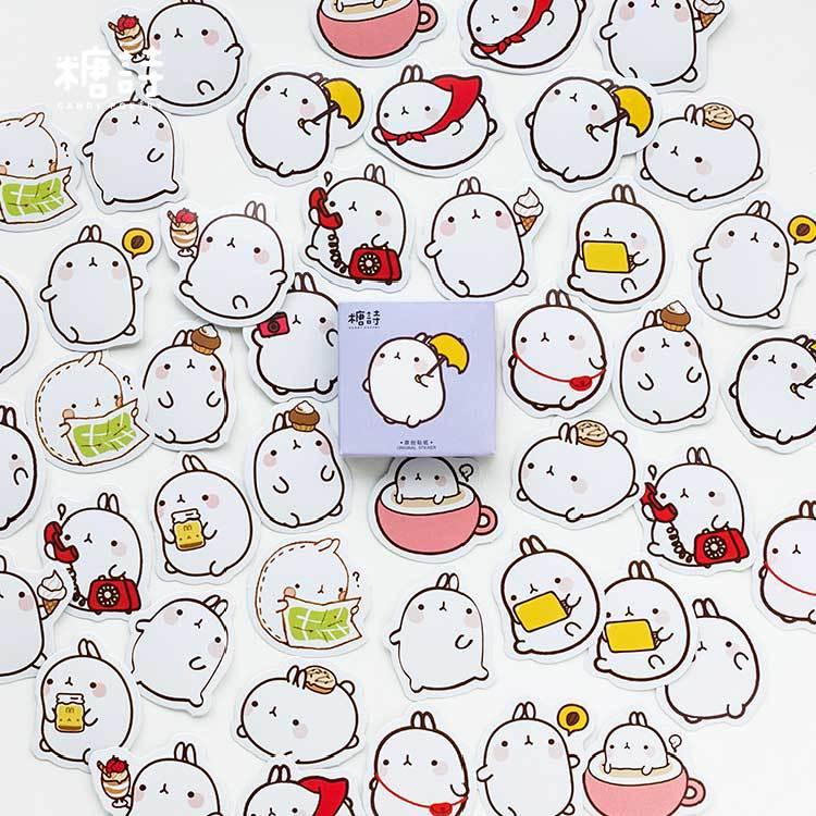 45 Pcs/pack Cute Cartoon Animals Paper Stickers For Diary Calendar Albums Decoration Scrapbook Planner Journal Child Diy