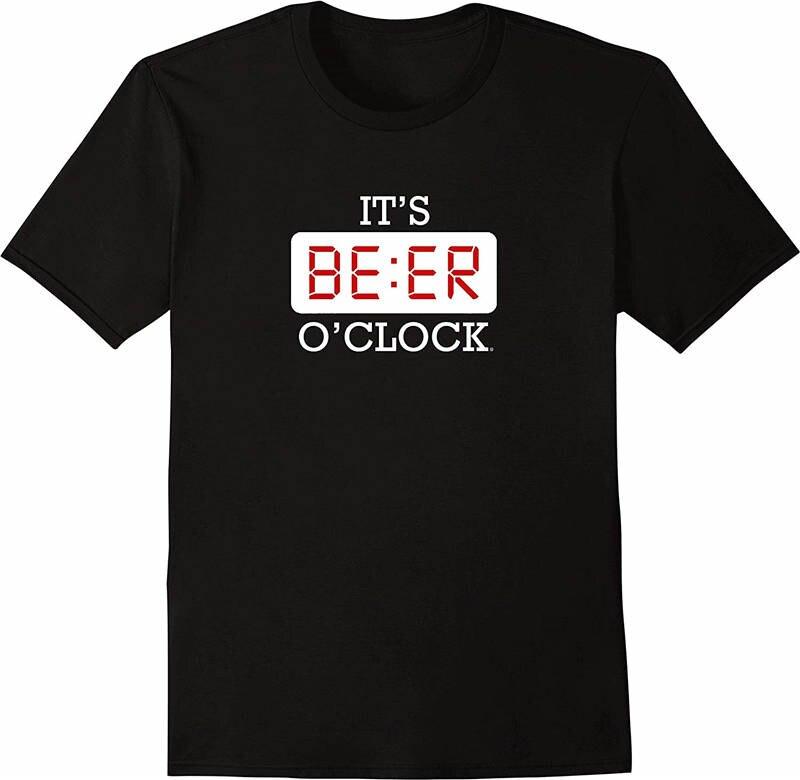 2018 New 100% Cotton T Shirts Premium Men It'S Beer O'Clock  O-Neck Short-Sleeve Tee Shirts