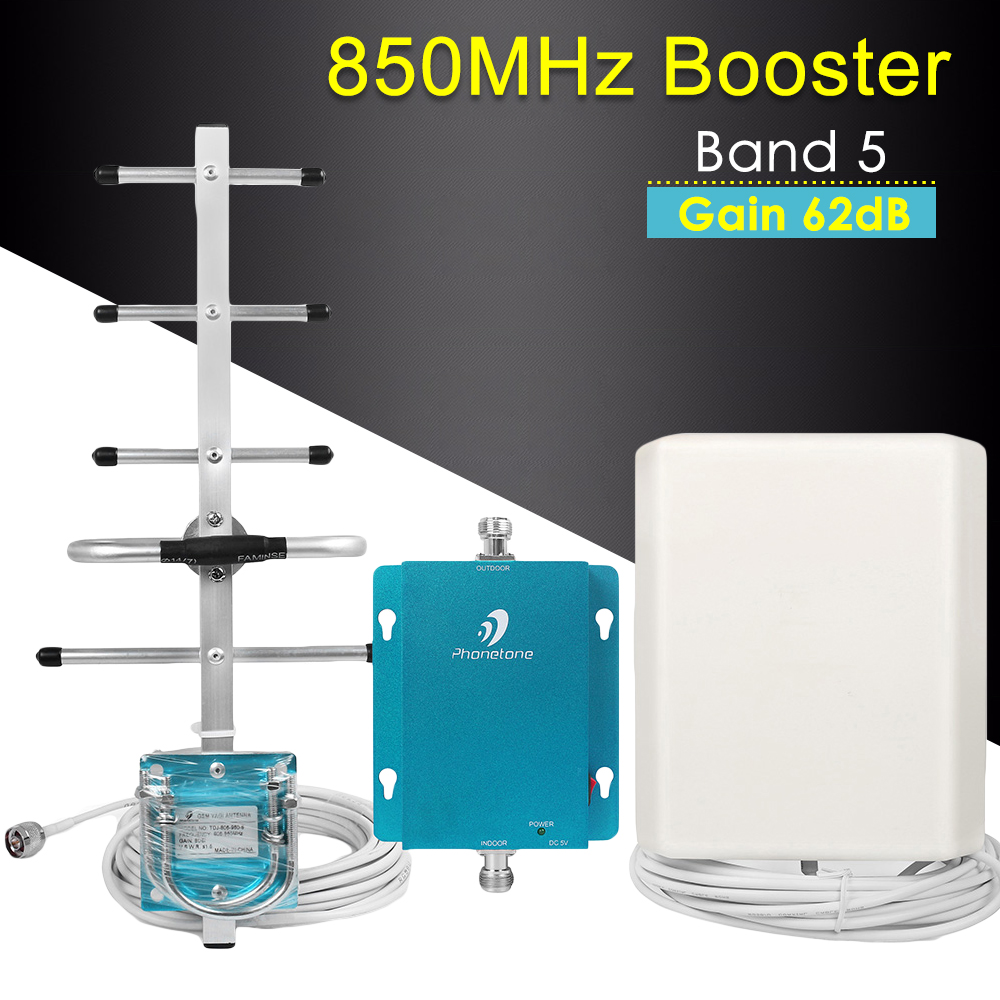 Cellular Signal Booster 3G 850MHz Band 5 62dB Communication Mobile Network Booster Repeater Cellular Signal Amplifier For Chile