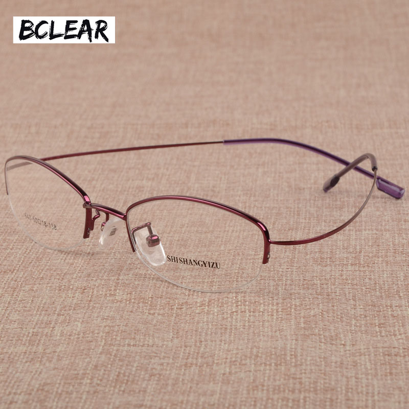 BCLEAR kvinnor Utralight Myopia Presbyopia Glasögon Ramar Frameless Memory Glasögon Ramar Metalllegering Optisk ram Vintage Hot