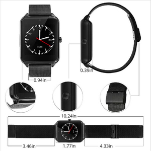 Image 5 - 2021 Smart Horloge GT08 Plus Metalen Band Bluetooth Pols Smartwatch Z60/Android Ondersteuning Sim Tf Card Horloge Multi talen