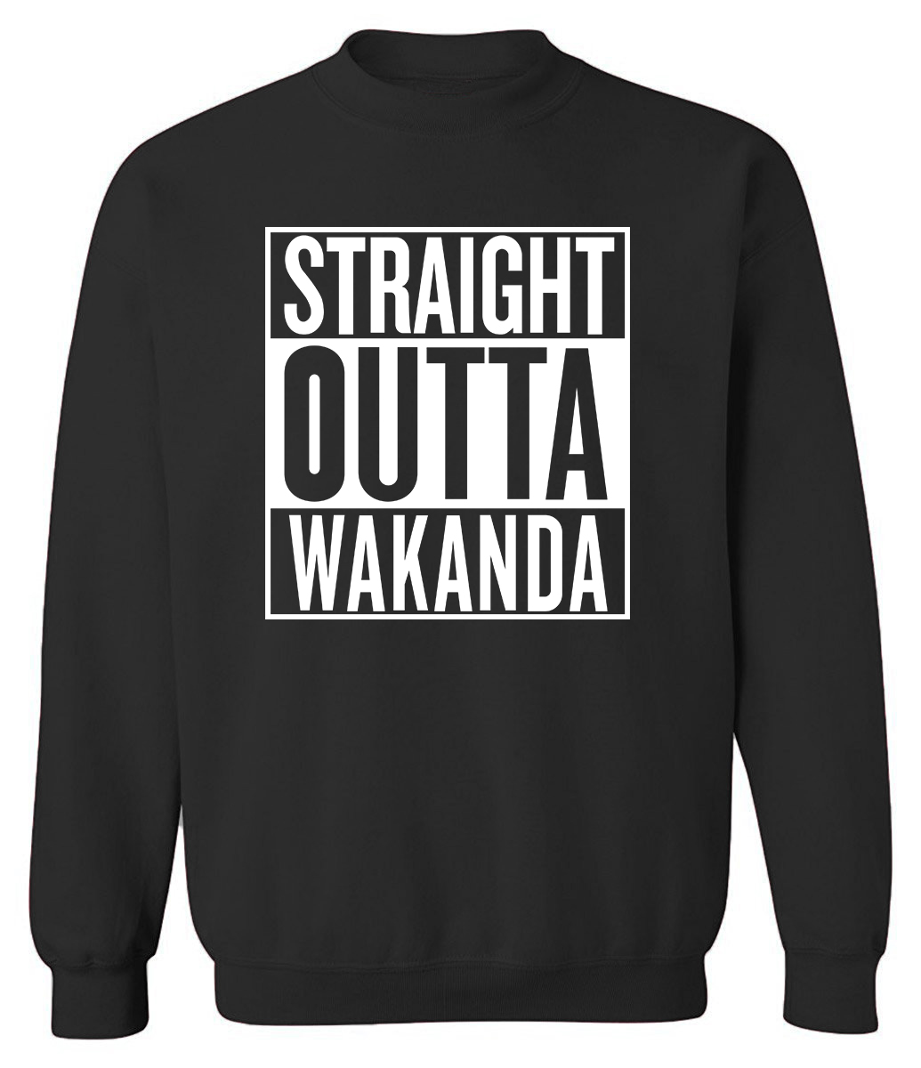 New Fashion Black Panther Sweatshirts For Men 2019 Autumn Winter Hoodies STRAIGHT OUTTA WAKANDA Hip Hop Men's Sportswear Hoody