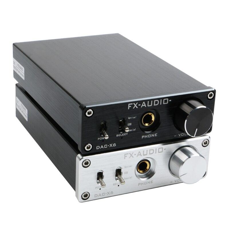 FX Audio DAC X6 HiFi Optical Coaxial USB Digital Audio Amplifier DAC Decoder with Headphone Output