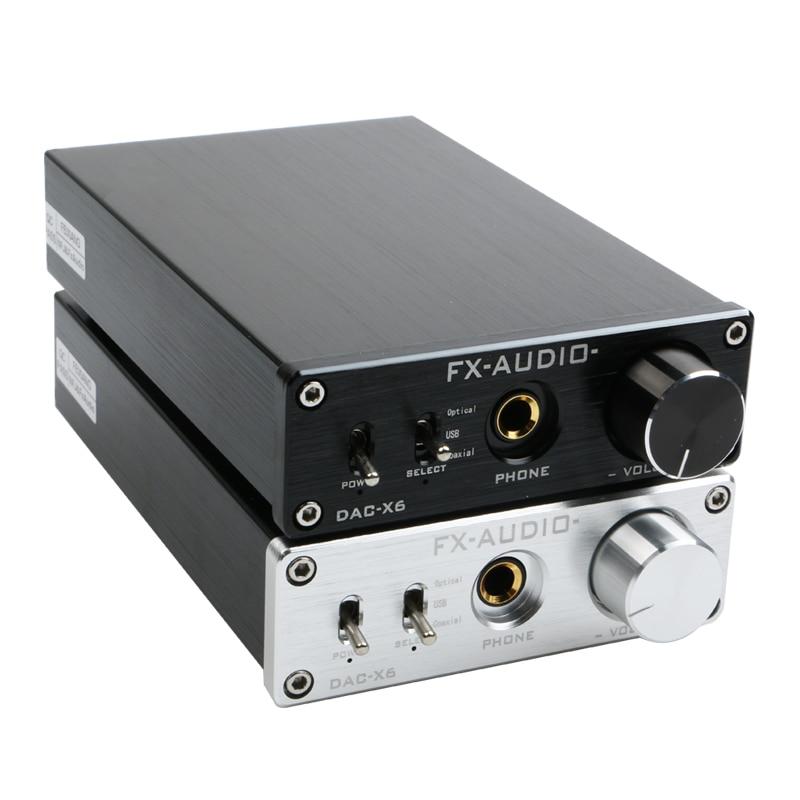 Цифровой усилитель FX-Audio DAC-X6 HiFi, оптический/коаксиальный/USB, DAC декодер с выходным усилителем для наушников SA9023 OPA2134