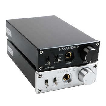 FX-Audio DAC-X6 HiFi Optische/Koaxial/USB Digital Audio Verstärker DAC Decoder mit Kopfhörer Ausgang AMP SA9023 OPA2134