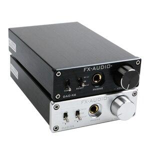 Image 1 - Цифровой усилитель FX Audio DAC X6 HiFi, оптический/коаксиальный/USB, DAC декодер с выходным усилителем для наушников SA9023 OPA2134
