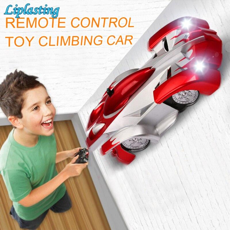 Coche RC de escalada de pared con Control remoto, con luces LED, juguetes rotativos de 360 grados, máquina antigravedad, coche de pared para niños|Coches con radiocontrol|   - AliExpress