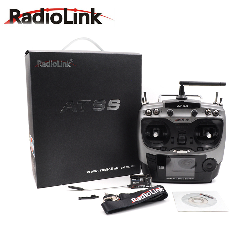 Radiolink AT9S 2.4G 9CH System Transmitter with R9DS Receiver AT9 Remote Control update vision for RC quadcopter Helicopter-in Parts & Accessories from Toys & Hobbies
