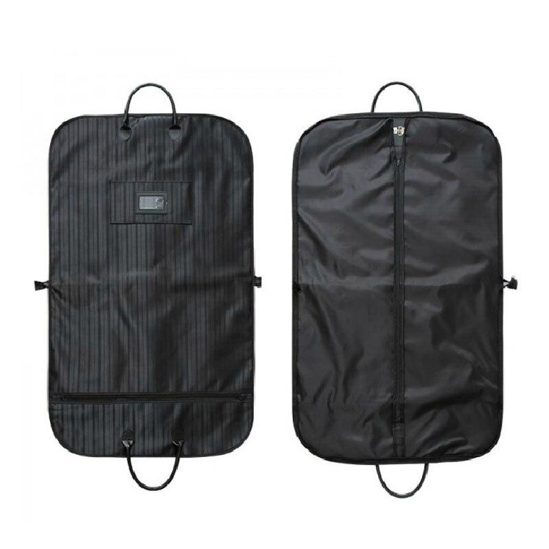 JXSLTC Waterproof Black Zipper Garment Bag Suit Bag Durable Men Business Trip Travel Bag For Suit Clothing Case Big Organizer in Storage Bags from Home Garden