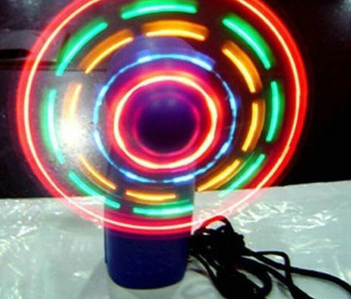 Купить с кэшбэком LED Light Fan Portable Flexible Light Up Toys fans 10 piece