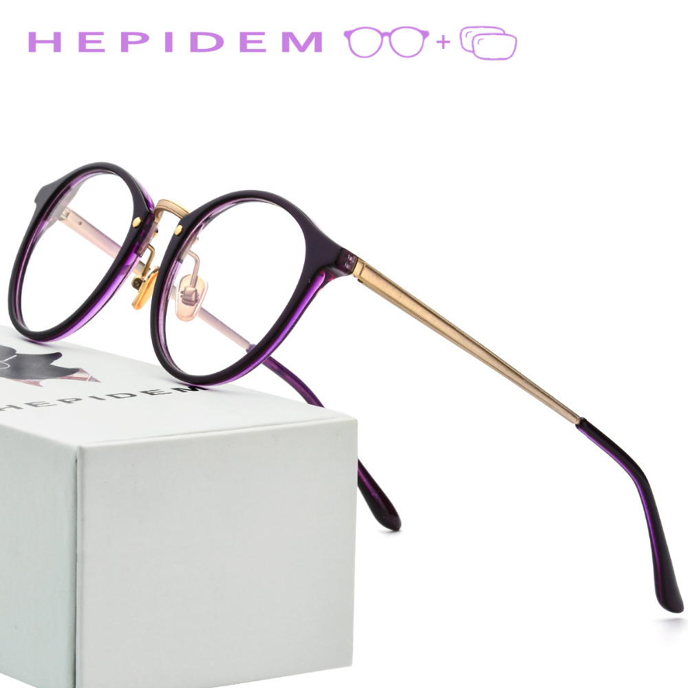 Acetate Optical Prescription Glasses Frame Women 2018 Metal Men Retro Round Eyeglasses Ladies Vintage Myopia Spectacles Eyewear acetate prescription glasses frame men oliver full round spectacles fors women peoples optical nerd myopia wood grain eyeglasses
