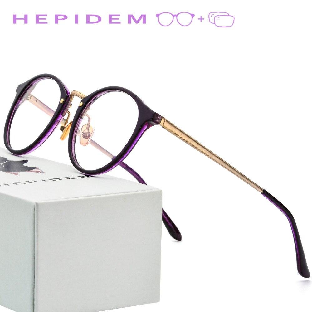 3af1ada9c95d4 Acetato de Prescrição Óptica Óculos de Armação Mulheres 2018 Homens Óculos  Retro Rodada de Metal Senhoras Do Vintage Óculos de Miopia Eyewear