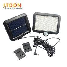 [LTOON]56 LED Solar Light Waterproof PIR Motion Sensor Wall Lamp Outdoor Garden Parks Security EmergencyStreet SolarGarden