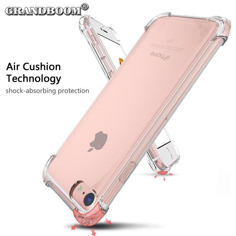 bilder für GRANDBOOM luftpolster Weiches TPU Drop Schutz abdeckung Fall Für iPhone 7 Plus 6 6 S 5 5 S SE Samsung S8 plus S7 kante Anmerkung 5 10 stücke