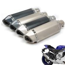 Universal Fiber Motorcycle Exhaust Pipe Muffler Motorbike Exhaust Modified Exhaust Pipe For SUZUKI GSXR 600 750 1000 стоимость