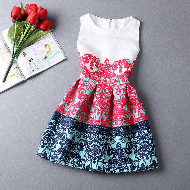 Free Shopping Fashion Women Summer Style Dress 2015 Butterfly Print Casual Dress Vestidos Party Dresses Plus Size Women Clothing