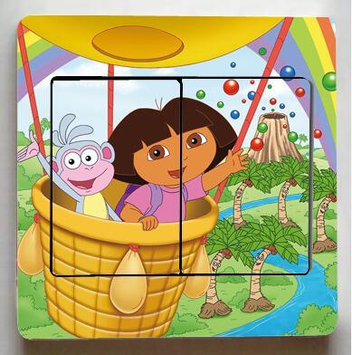 1 PCS Dora The Explorer Stickers Switch, Dora The Explorer Lovely Wall  Stickers, Childrenu0027s