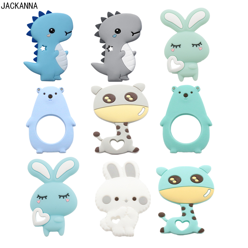 Animal Shape Silicone Teether Baby Teething Toys DIY Nursing Accessories Chewable Newborn Gift BPA Free Silicone Baby Teether