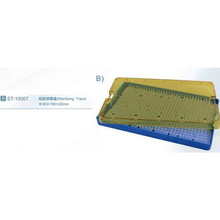 Medium instrument disinfection box with stainless steel orifice + silica gel pad/ Sterilizing Trays 10007