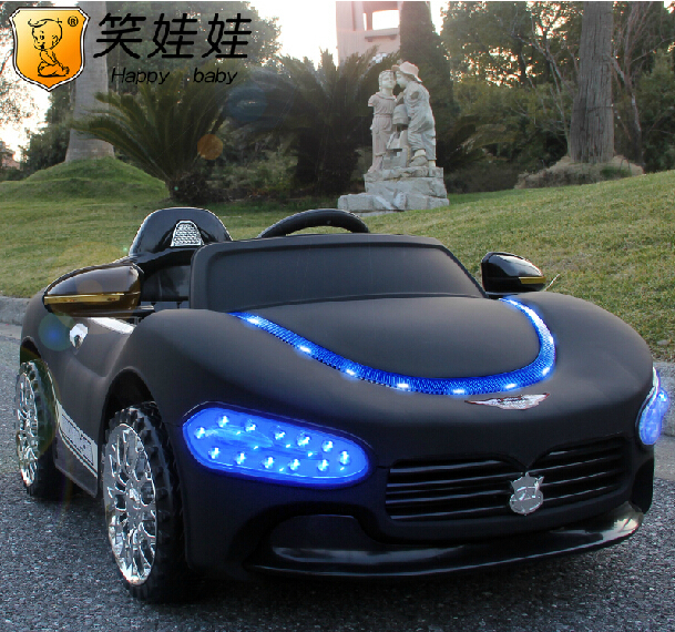 Suitable For Children Aged 1-4 2.4G Bluetooth Remote Control Toy Electric Ride On Music Car With Blue Headlight