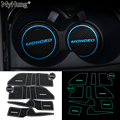 For Ford Mondeo 2007 2008 2009 2010 2011 2012 Non-slip Rubber Cup Holder Sticker Gate Slot Pad Door Groove Mat Car Styling