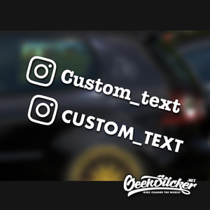 Image 4 - Customized Personalized Die Cut Instagram User Name Waterproof Reflective Car and Motorcycle Decals Bumper Ins Sticker
