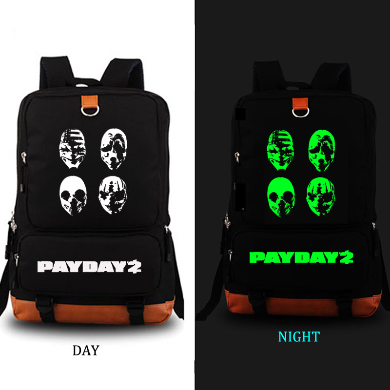 Payday2 Game School Bag Canvas Backpacks School Rucksack Travel Backpack Daily Backpack