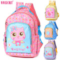 Hot Sale Brand Kid's Waterproof Nylon Cute Cartoon Animal Printed Preschool Kindergarten Bags Backpack School Bag For Boys Girls