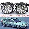 Para Renault Laguna 2 Grandtour KG0 KG1 Estate 2001-2015 Carro estilo amortecedor dianteiro Faróis de neblina LED alto brilho faróis de nevoeiro 1 conjunto