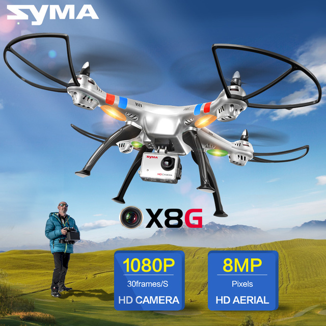 SYMA X8G 8MP Wide Angle Camera Quadcopter 2.4G X8C Drone with Camera HD UAV RTF RC Helicopter Dron X8W Wifi Real Time FPV
