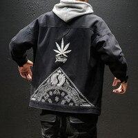 Japanese harajuku streetwear jacket hip hop men fashion chaquetas Print erkek ceket male chamarra hombre jaquetas Creative print